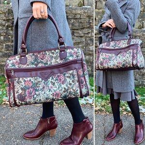 Vintage | Verdi Floral Carpet Weekend Travel Bag